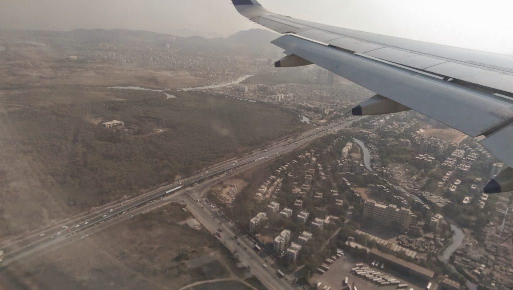 Landing over Mumbai
