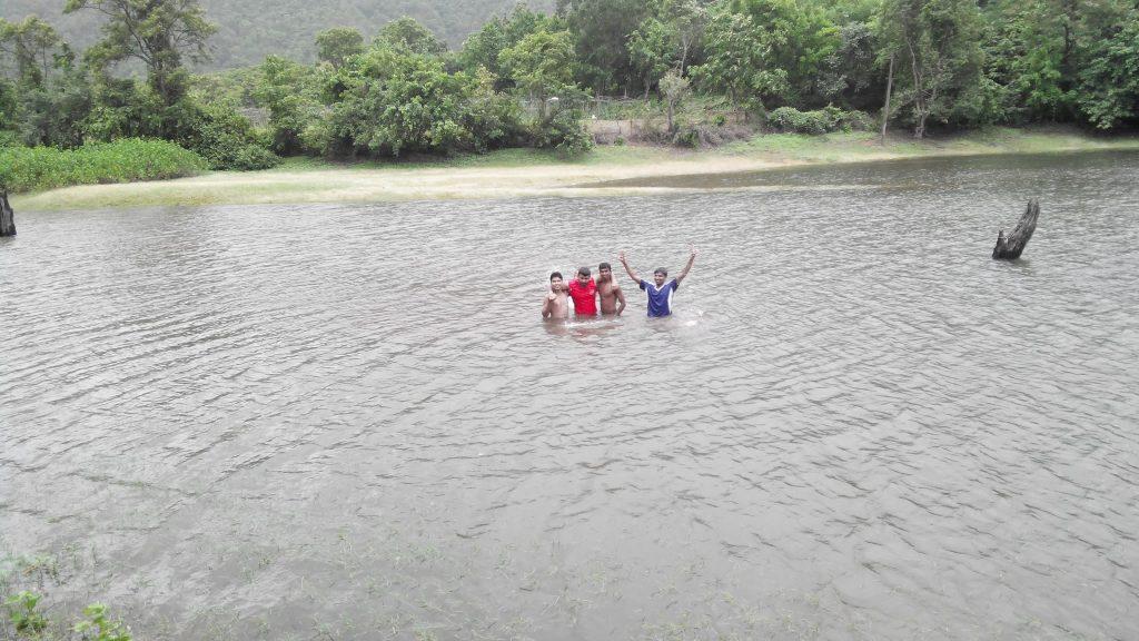 Swimming in Kelva dam