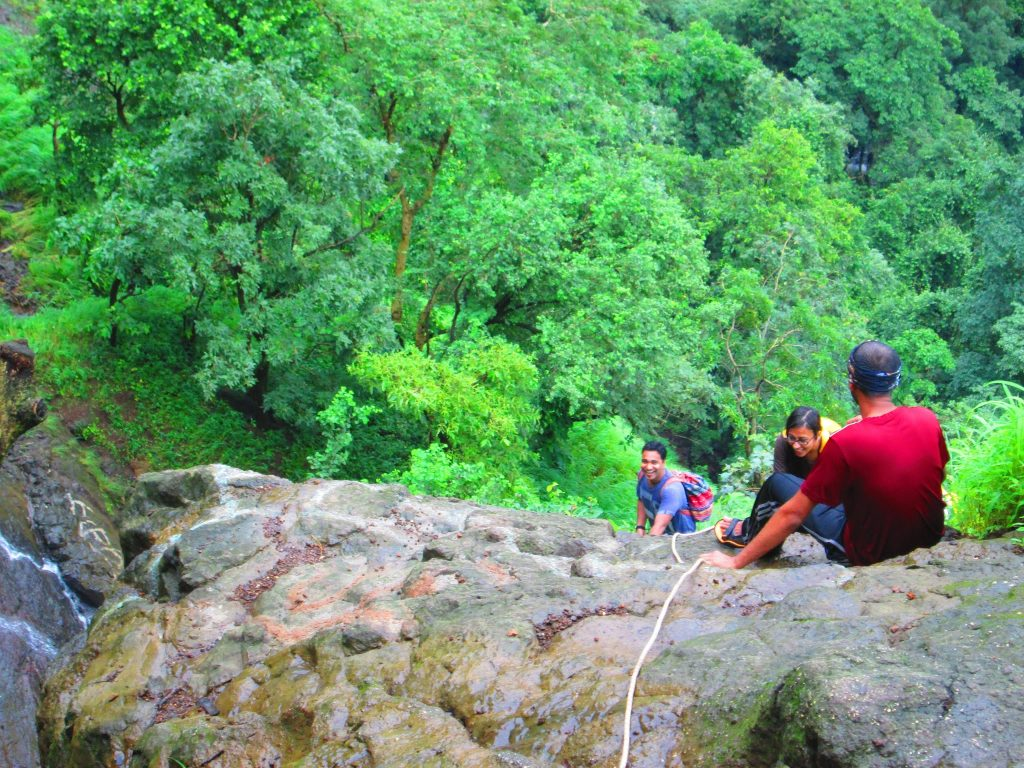 Rope climb to the top