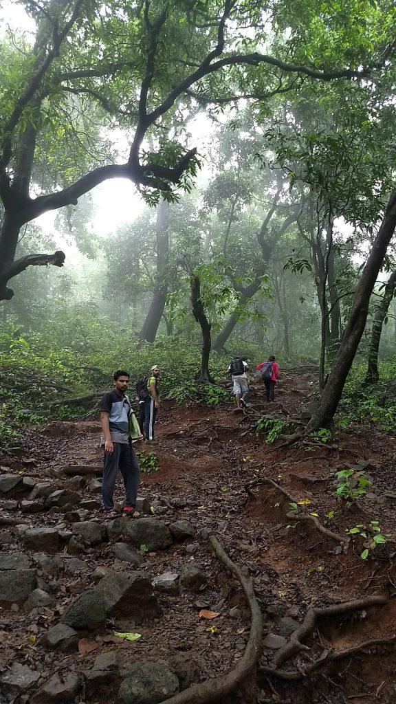 Reaching karnala fort