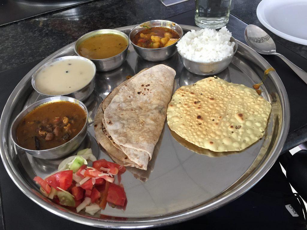 Gujarati Thali at Savshanti Lake Resort.