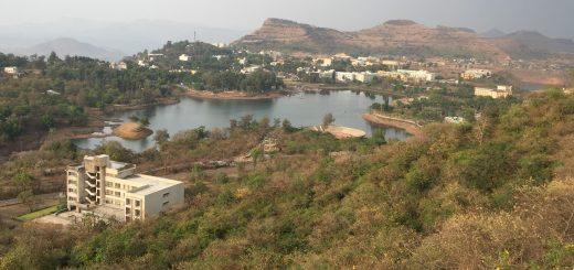 View of Saputara from ropeway